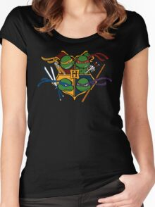 TMNT at Hogwarts Women's Fitted Scoop T-Shirt