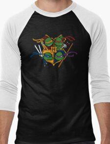 TMNT at Hogwarts Men's Baseball ¾ T-Shirt