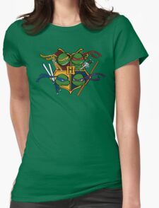TMNT at Hogwarts Womens Fitted T-Shirt
