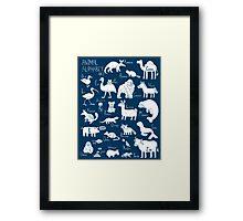 Animal Alphabet #2 Framed Print