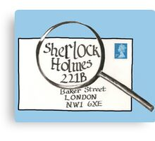 Sherlock Holmes' Letter Canvas Print