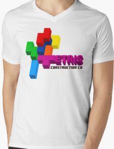 ETRIS CONSTRUCTION CO Mens V-Neck T-Shirt