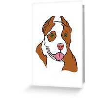 Red Nosed Pit Greeting Card