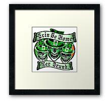 Leprechaun skull Trio: Erin Go Home, Yer Drunk Framed Print