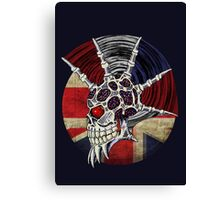 Punk Skull - Union Jack BG Canvas Print