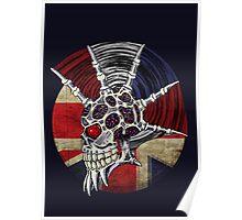 Punk Skull - Union Jack BG Poster