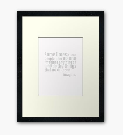 The Imitation Game - Quote Framed Print