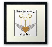 Keeper of my Heart Framed Print