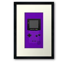 Purple Nintendo Gameboy Color Framed Print