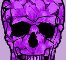 Skull of Purple Flowers by amanda metalcat dodds