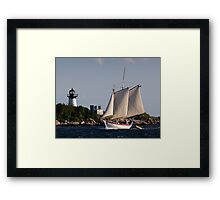 Pinky Ardelle Rounds Ten Pound Island Framed Print