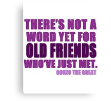 There's Not a Word Yet...(Purple) Canvas Print