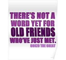 There's Not a Word Yet...(Purple) Poster