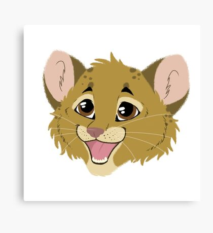 Cute Lion Cub Canvas Print