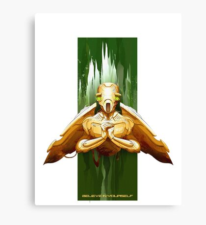 flying droid  Canvas Print