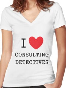 I Love Consulting Dectives Women's Fitted V-Neck T-Shirt