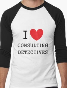 I Love Consulting Dectives Men's Baseball ¾ T-Shirt