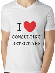 I Love Consulting Dectives Mens V-Neck T-Shirt