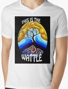 This is the Wattle. Mens V-Neck T-Shirt