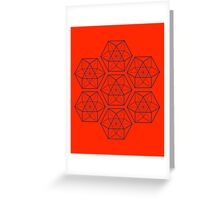 Pattern Cube-octahedron Greeting Card
