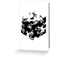 Isometric Decay Greeting Card