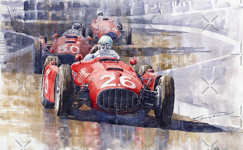 Lancia D50 Monaco GP 1955  by Yuriy Shevchuk