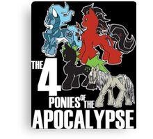 Four Ponies of the Apocalypse Canvas Print