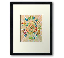 Sally Go Around-Available As Art Prints-Mugs,Cases,Duvets,T Shirts,Stickers,etc Framed Print