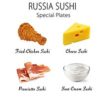 Russia Sushi's Special Plates Photographic Print
