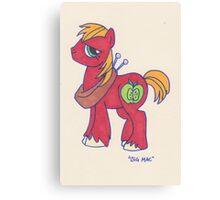 Notecard Ponies #4: Big Mac Canvas Print