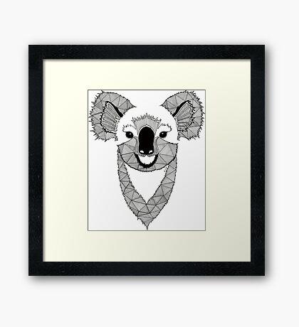 Koala black and white Framed Print