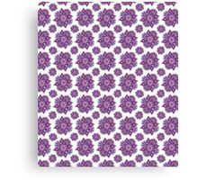 Large Purple Floral Duvet Canvas Print