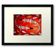 Two Lizards Framed Print