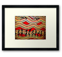 Dancing in the Outback Framed Print