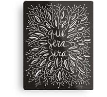 Whatever Will Be, Will Be (Black & White Palette) Metal Print