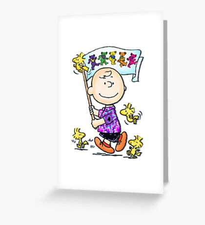 Wave that flag Charlie Brown Greeting Card