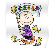 Wave that flag Charlie Brown Poster