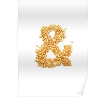 Ampersand Gold Poster