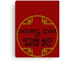 Anything Goes Martial Arts Alternative Canvas Print