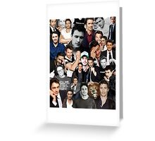 James Franco Collage Greeting Card