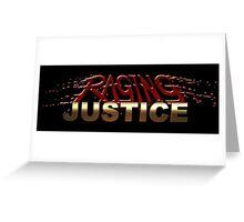 Raging Justice Logo Greeting Card