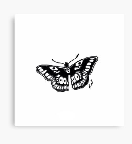 Butterfly Tattoo Canvas Print