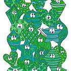 Baubles Green Blue by Sammy Nuttall