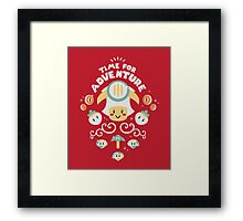 Time for Adventure Toad Framed Print