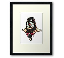 Zombie Space Ghost Framed Print
