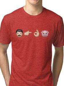 Emoji: Man Vs Pig Tri-blend T-Shirt