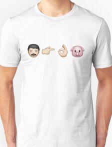 Emoji: Man Vs Pig Unisex T-Shirt
