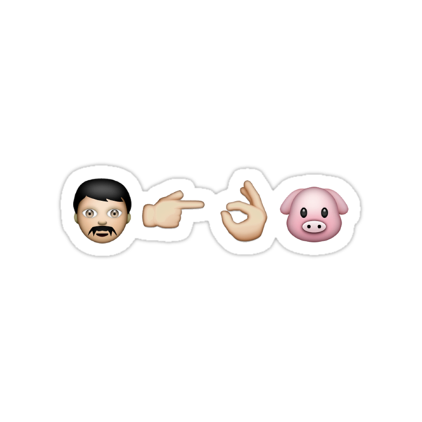 Emoji: Man Vs Pig by galraz