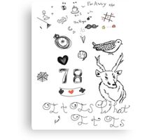 Louis Tattoos Canvas Print