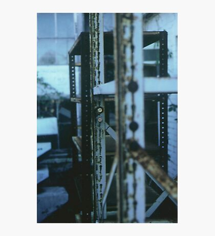 The Blue Shelves Photographic Print